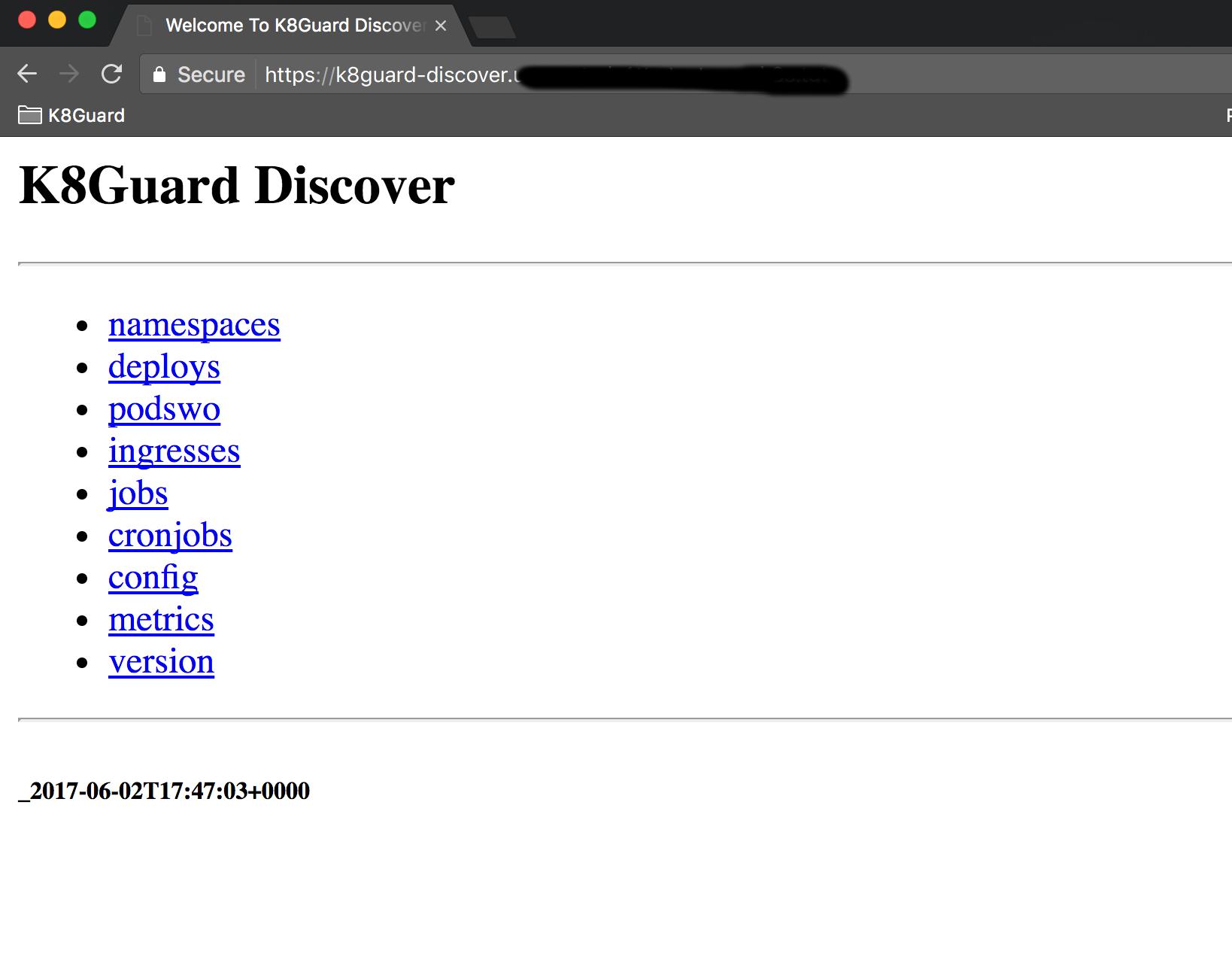 K8Guard Discover API